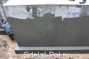Обмазочная гидроизоляция бетонных и кирпичных поверхностей