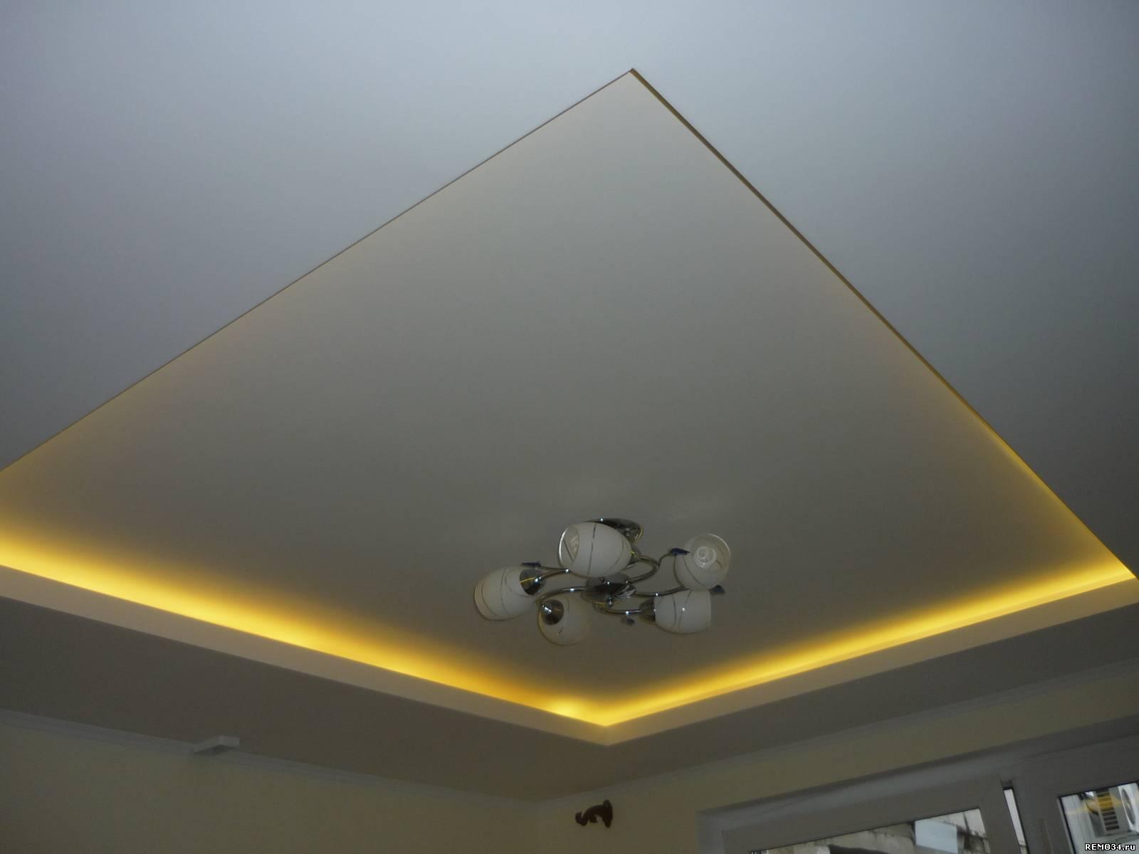 Потолки из гипсокартона (150 фото)
