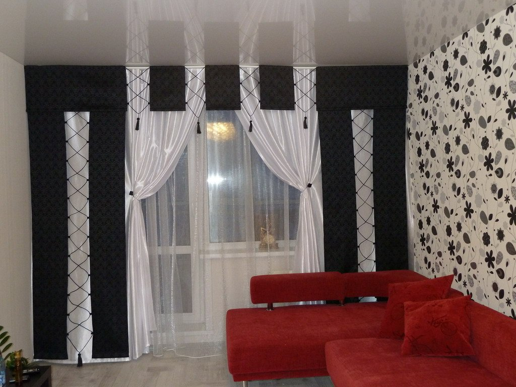 прогноз шторы в черно-белом цвете для детской Казахстан объявления