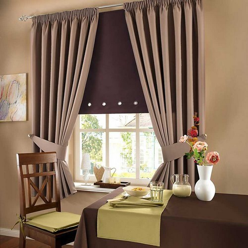 Варианты штор для кухни: Фото