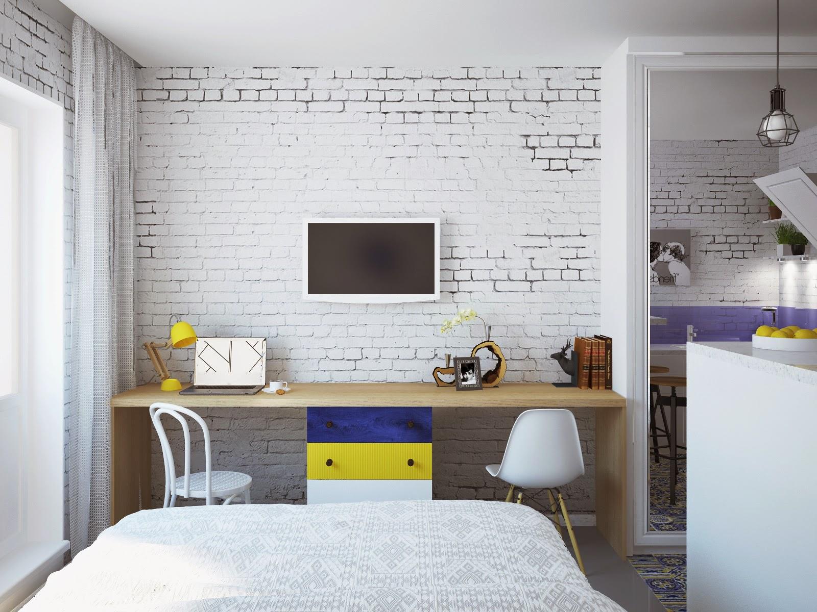 Фото дизайна квартиры студии 28 м