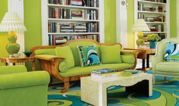 Как грамотно оформить гостиную в зеленом цвете?