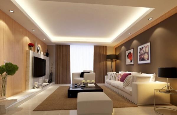 Как гармонично оформить гостиную в коричневых тонах?