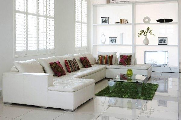Угловой диван из натуральной кожи: оформи гостиную стильно (+32 фото)