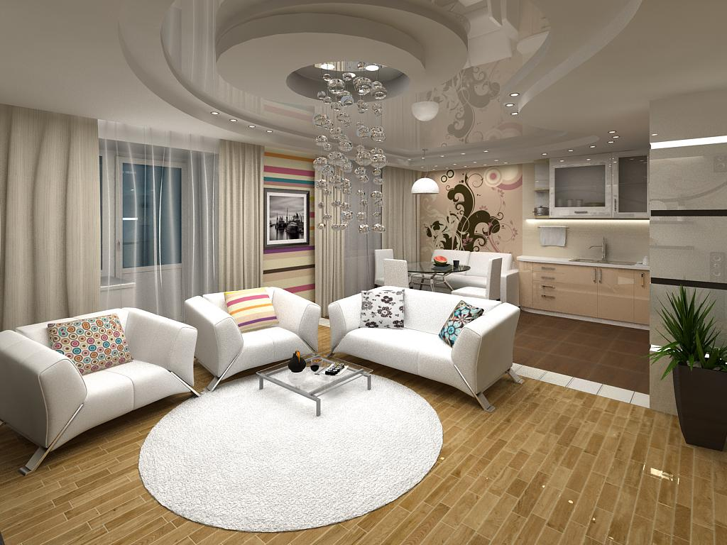 Дизайн гостиной 2016: фото новинки современных идей