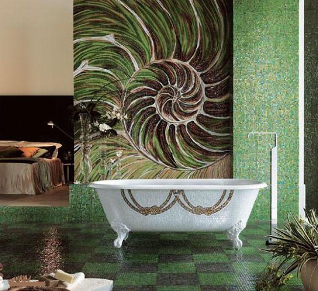 Дизайн плитки для ванной комнаты: Фото