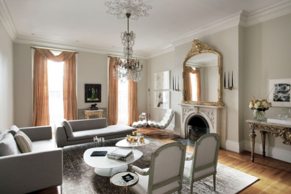 Современный интерьер гостиной в классическом стиле