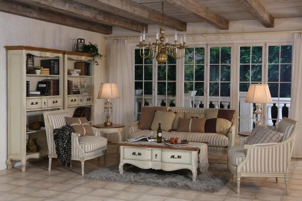 Оформляем гостиную: очарование стиля Прованс