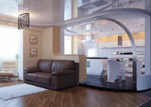 Перегородка между кухней и гостиной: какой тип выбрать