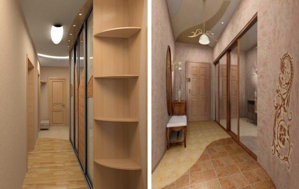 Дизайн узких коридоров и прихожих