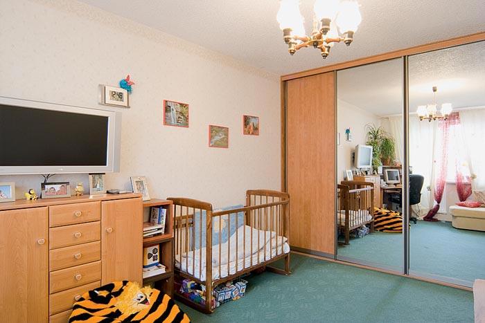 Дизайн интерьера однокомнатной квартиры для семьи с ребенком