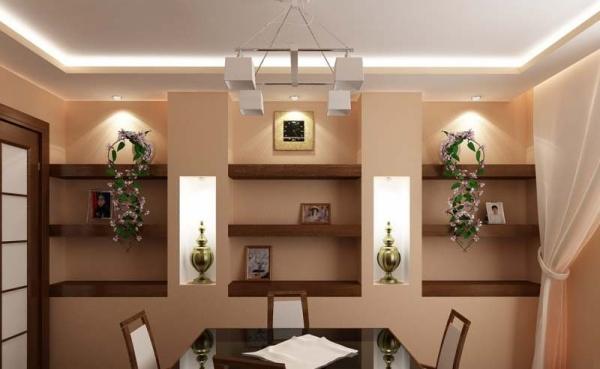 Дизайн полок на стену: классические и необычные вариации