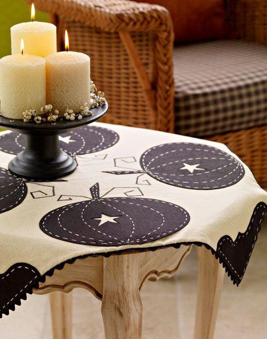 Оригинальные скатерти на стол своими руками