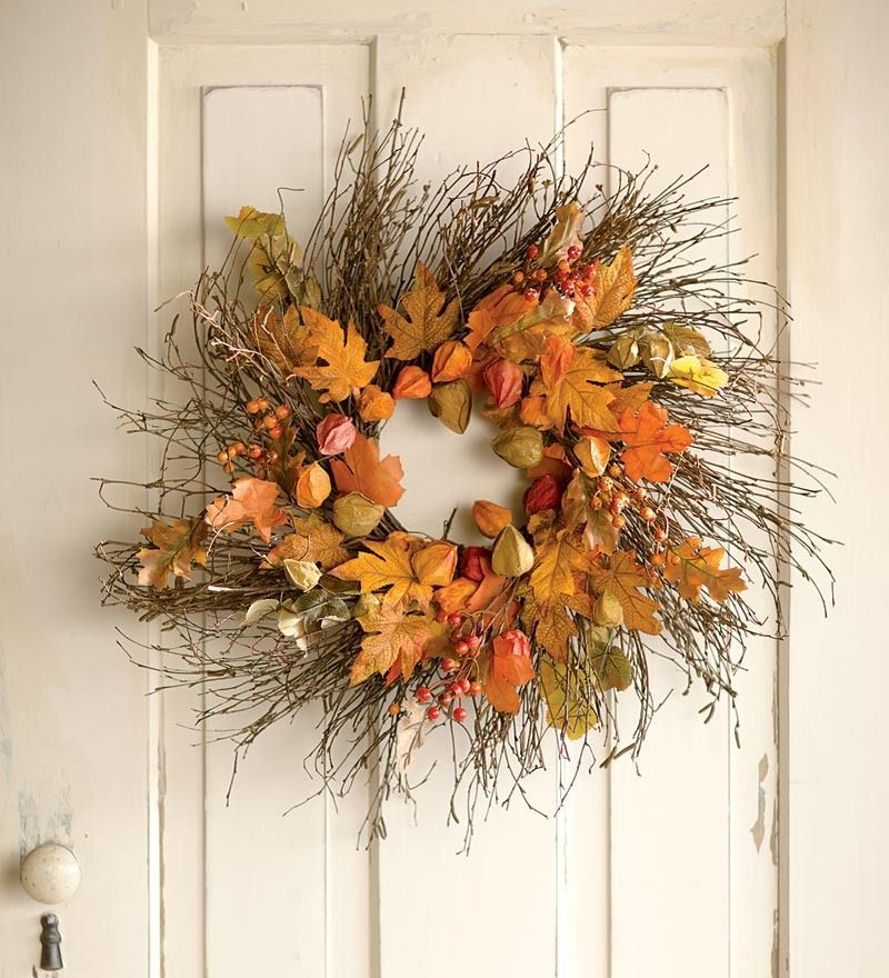 Идеи декора из сухих листьев