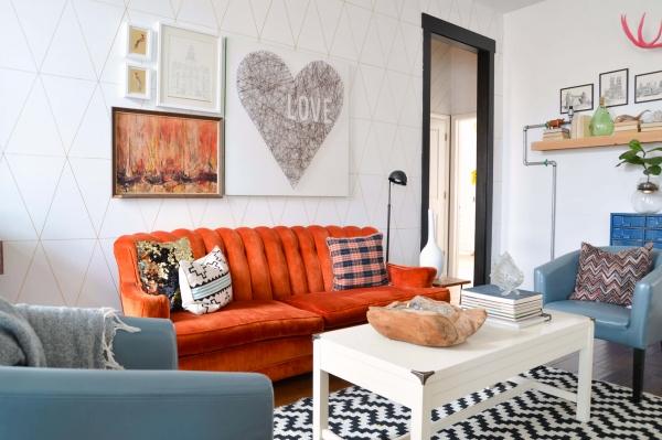 Оранжевая мебель в интерьере (20 фото): солнечные акценты