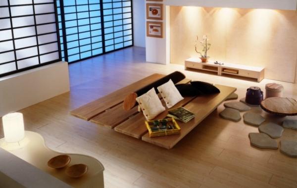 Оформляем гостиную в японском стиле