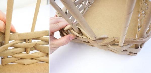 Плетение корзинки за 2 вечера из любой бумаги — мастер-класс для начинающих