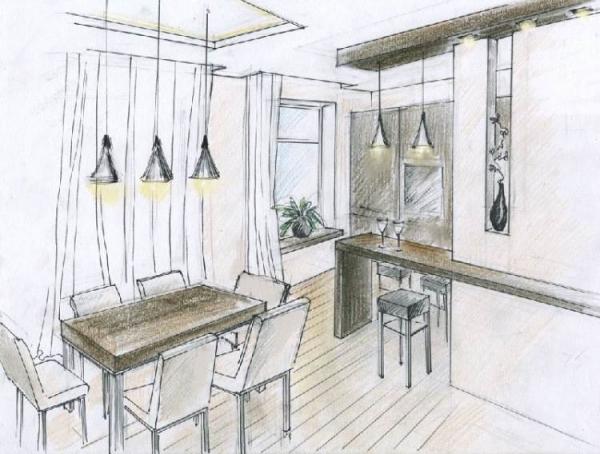 Делаем рисунки кухни на свой вкус