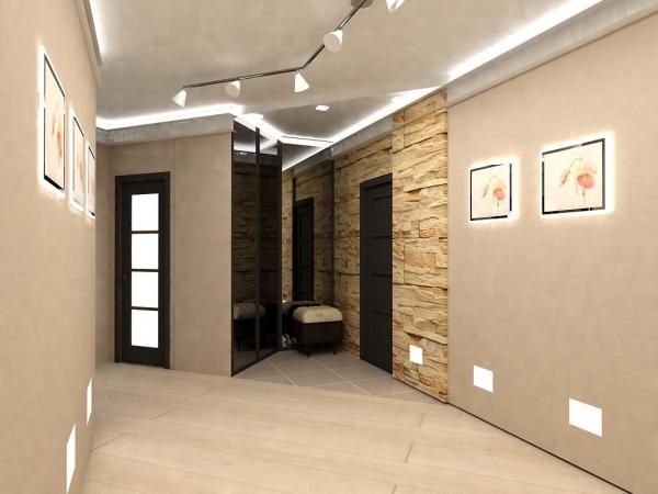Обои для прихожей и коридора, фото различных интерьеров