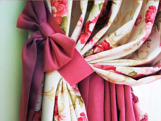 Банты для шторы своими руками
