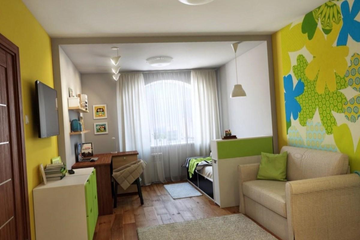 Дизайн совмещенной спальни и гостиной 18 кв.м