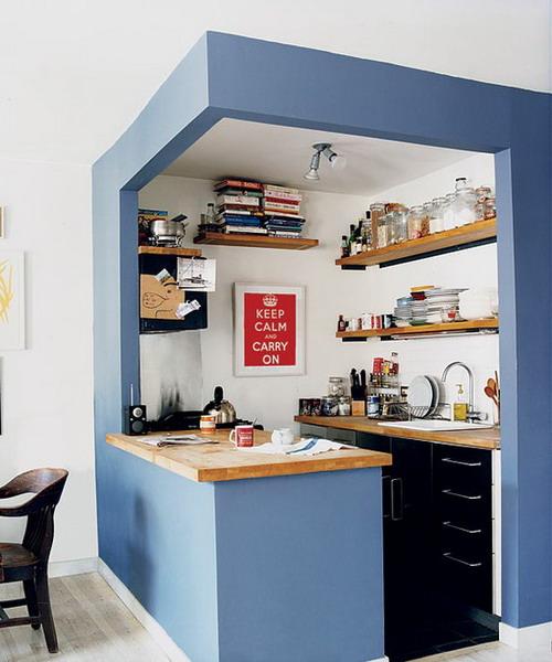 Дизайны мини-кухни — Фото