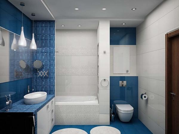 Дизайн ванной комнаты площадью 5 кв м