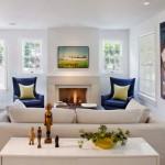 Дизайн интерьера гостиной с камином: фото и современные идеи