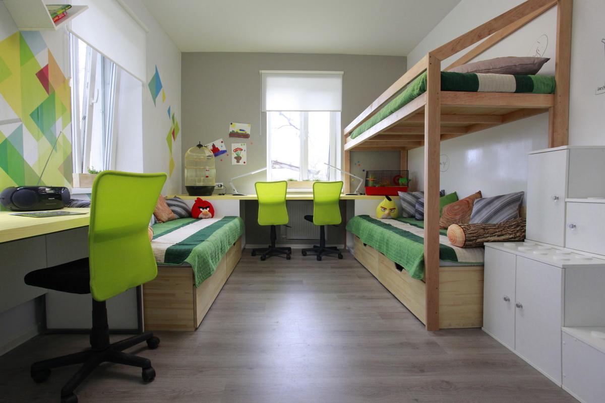 Дизайн детской для двух мальчиков 18 кв.м