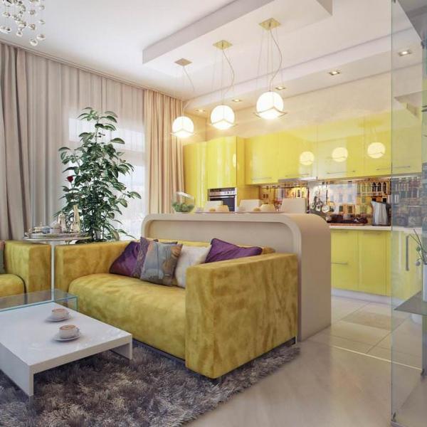 Дизайн кухни-гостиной в одном помещении: оригинальный интерьер и дополнительное пространство