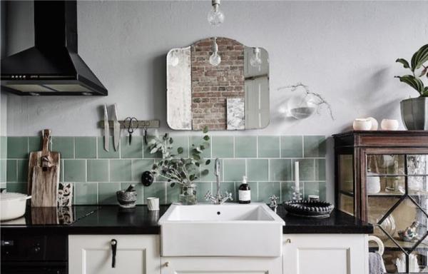 Гид по выбору зеркал для облицовки и декора кухни