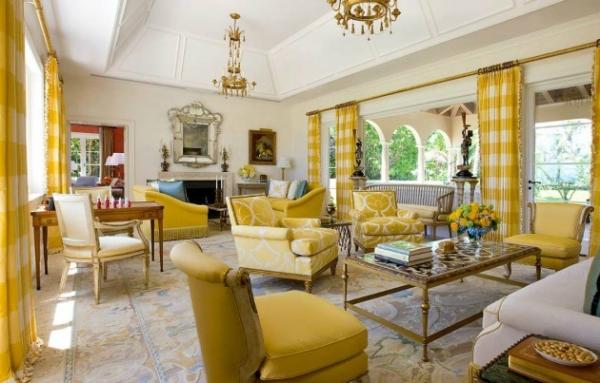 Секреты оформления гостиной в желтых тонах