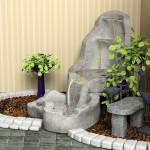 Фонтан как декоративный элемент жилого интерьера