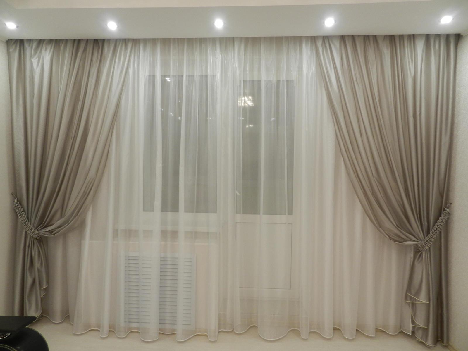 шторы из вуали для зала фото