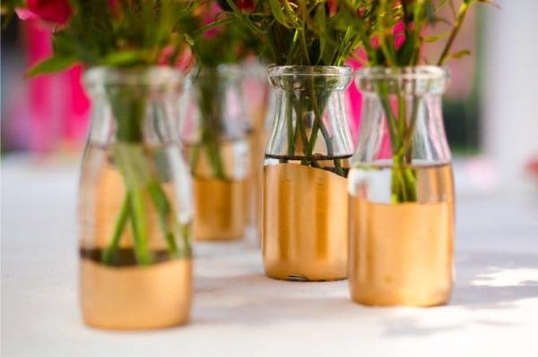 Вазы из стеклянных бутылок: декор, роспись и обрезка