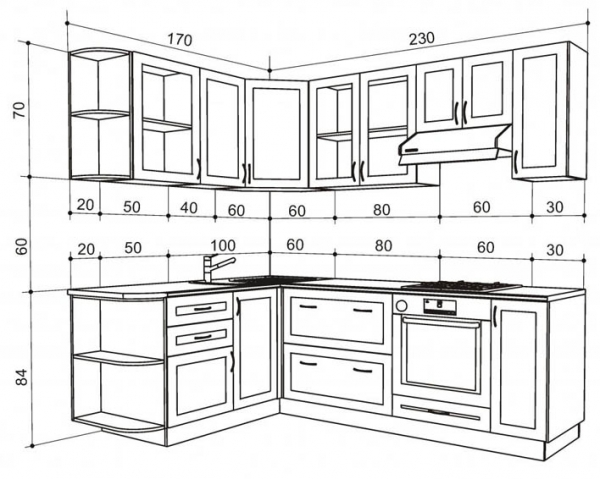 Рисуем чертеж кухни своими руками: какие нюансы следует учесть?