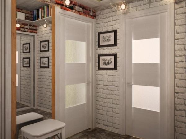 Дизайн интерьера маленькой прихожей в фото